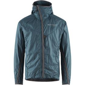 Klättermusen Ansur Hooded Wind Jacket Men, blauw